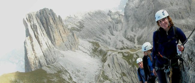 Via Ferrata Dolomites: Via Ferrata Roda de Vael, luxury dolomites tours