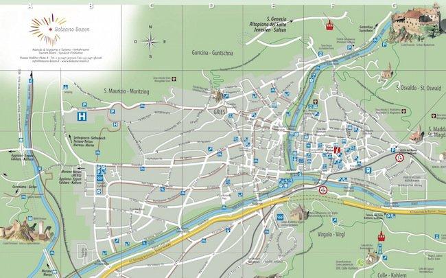 Bolzano / Bozen Dolomites map