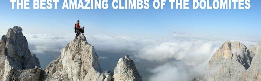 rock climbing dolomites panorama