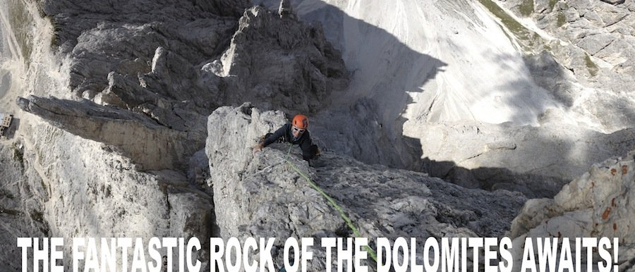rock climbing dolomites vajolet tower
